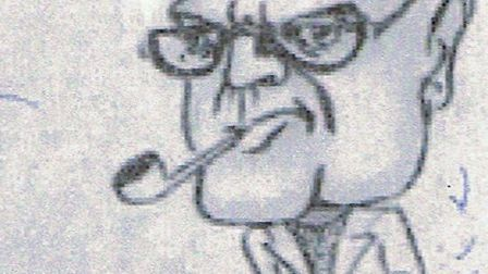 OLIVER REDGRAVE, as depicted in the 1937 cartoon.