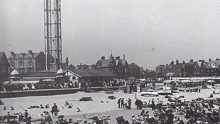 FOR HIGH DAYS AND HOLIDAYS...the 150ft Revolving Tower on North Drive, a landmark from 1897 to 1941.