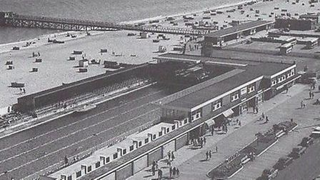 HERE WE ARE AGAIN! Great Yarmouth's 100-yard open-air unheated bathing pool was one of the familiar
