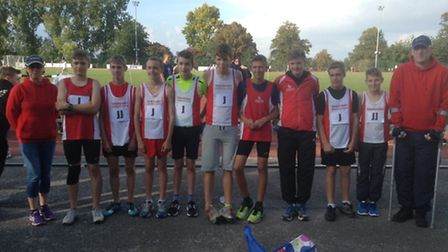 Thetford Athletics Club's Under-15 Boys Team were the first squad from the town to make the East Ang