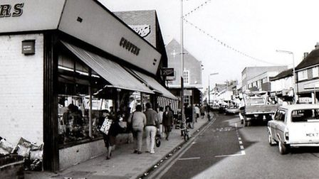 MAINACCUSTOMED TO DECIMALISATION...Gorleston High Street in the 1980s, a decade after traditional £s
