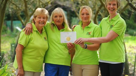 A pinic is held to thank everyone who helped with the Thetford Community Showgarden which won a silv