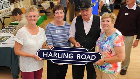 East Harling Village hall hold a bygones event.Jacqui Wilkie, Mary Ebbs, David Boggia and Jean Denni