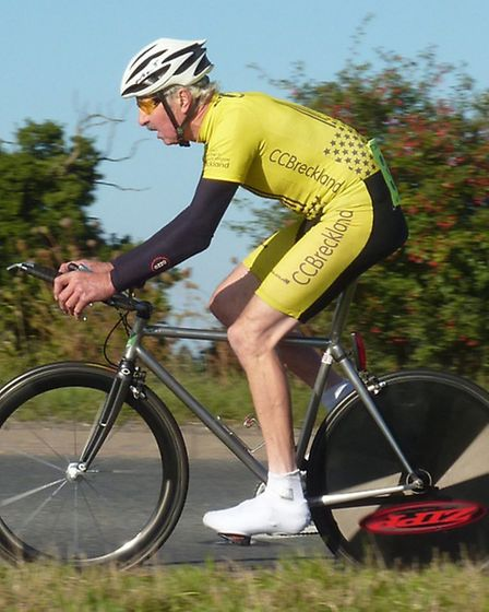 CC Breckland veteran Nick Paravanni racing in the Stowmarket and District 10-mile event on the A14 c