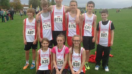 Thetford Athletics Club members at the Southern Cross Country Relay Championships which took place i