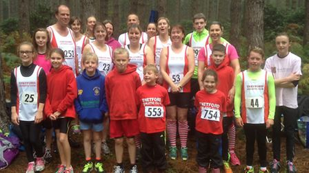 Thetford AC members at the Ryston Cross Country Series event.
