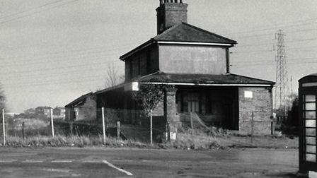 GHOST STATION: closed station buildings by the level crossing in 1966. Picture: MERCURY LIBRARY