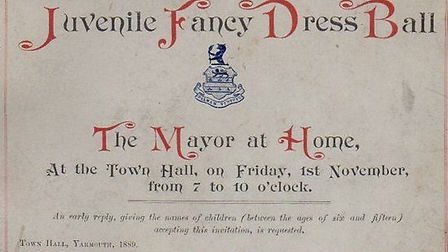 COME TO THE BALL? An invitation card to the 1889 civic event.Picture: SUBMITTED