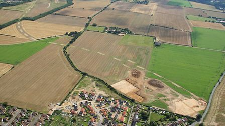 The route of the A143/A12 link road, which will join Gorleston and Bradwell. Picture: Mike Page
