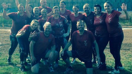 The ladies team at Thetford RUFC raised £250 for the Children with Cancer UK charity by getting stuc
