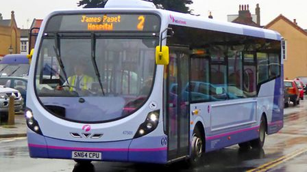 WELCOME ADDITION: one of the new FirstGreatYarmouth single-deckers in service in the town.