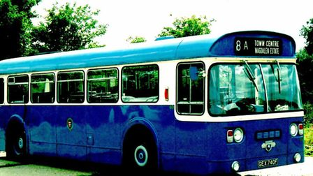 SURVIVOR: a former Yarmouth bus currently stored on a Hopton site.Picture: CHRIS HOPKINS