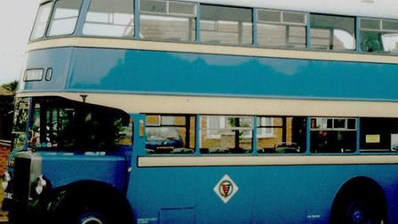 JUST VISITING: a postwar Great Yarmouth Corporation bus in Green Lane, Bradwell, in 2003. In its wor