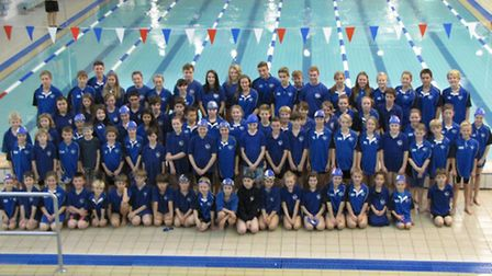 Thetford Dolphins Swimming Club swimmers at the club championships event.