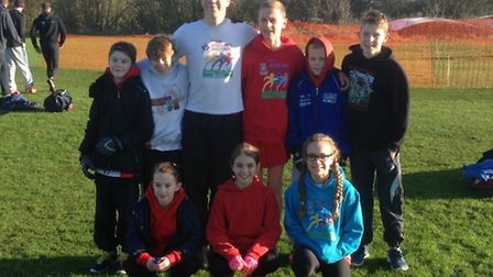Thetford Athletics Club members who took part in the Norfolk Cross Country Championships.