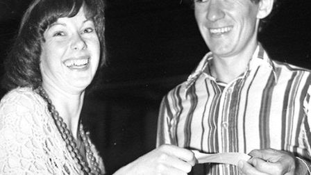 WELCOME, FRIEND! Pam Gosling takes Ian McKellen's subscription to the Friends of St George's in 1978