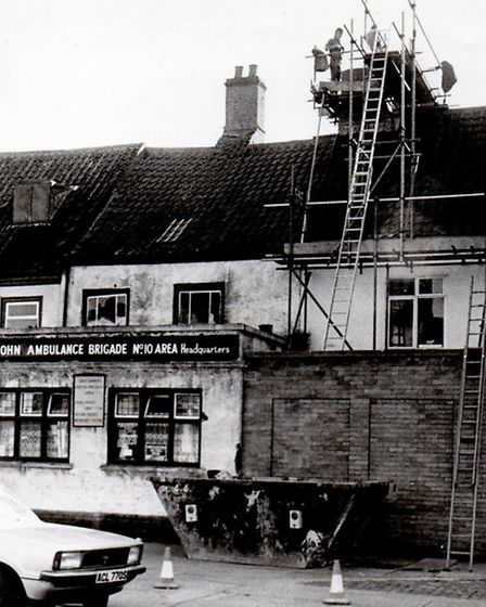 BEING REPAIRED: Johnson's Rooms in Northgate Street in 1982.Picture: MERCURY LIBRARY