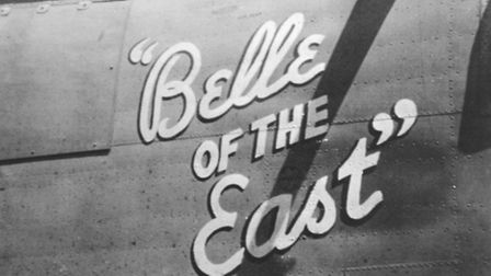 NOSE ART: The distinctive painting on the Liberator.Picture: SUBMITTED