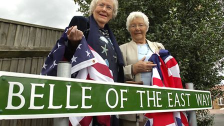 COMMEMORATION: Primrose Williams (left) and Hazel Davies who officially unveiled the new road sign a