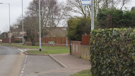 Reader Alan Smith is concerned about the situation at this bus stop in Bradwell.