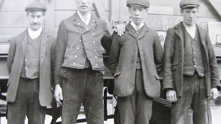MAINWELL TRAINED: Goods yard staff at Yarmouth Beach Station early last century.