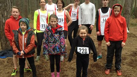 Thetford Athletics Club athletes who competed in the latest round of cross country races that form p