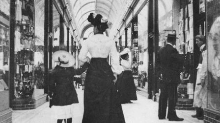 RETAIL INNOVATION: a mother and daughter stroll through one of the Marine Arcades in Edwardian Great
