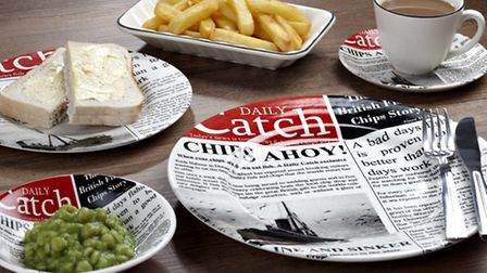 MAINPERFECT DISH FOR A PERFECT DISH...a plate from Poole Potteries' Fish and Chip range of tableware