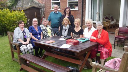 Volunteers, staff and group members of the Riversdale Centre with Lady Kay Fisher and Fiona McNish f