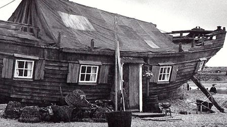 HOME SWEET HOME: a re-creation of Peggotty's Hut made for a film in the 1970s. It was not on Yarmout