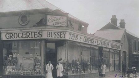 CORNERING THE MARKET? Grocer and provision merchant LJ Bussey at the junction of Bells and Springfie