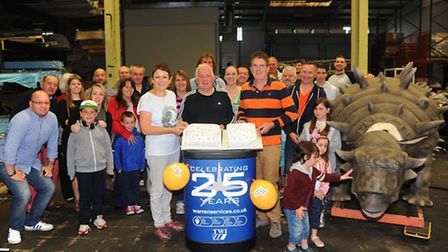 Warren Services in Thetford celebrate their 25th Anniversary with stfaff and their families.