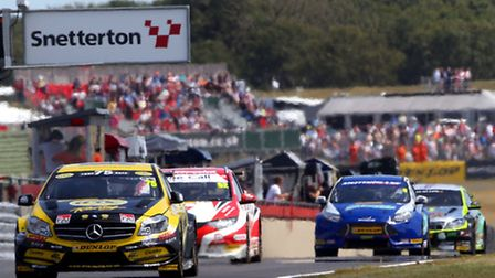 Action from the visit of the Dunlop MSA British Touring Car Championship to Snetterton in 2014.