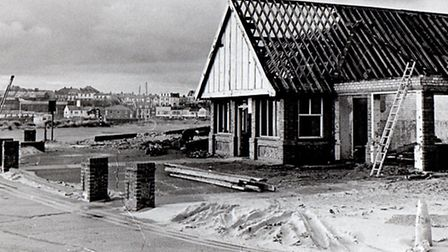 NO LONGER A FAVOURITE...the Harbour's Mouth café near the North Pier being demolished in 1977.Pictur