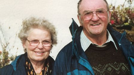 HAPPY DAY: Roy and Doreen Carr at a 2000 reunion of local people associated with the Berney Arms.