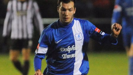 New Thetford manager Danny White in action for Wroxham. Picture: Ian Burt