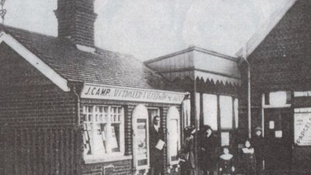 KEY LOCATION: the letting office outside Gorleston Station a century ago.Picture: SUBMITTED