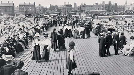 POPULAR SPOT: Yarmouth's Jetty on a summer's day in 1906.Picture: SUBMITTED