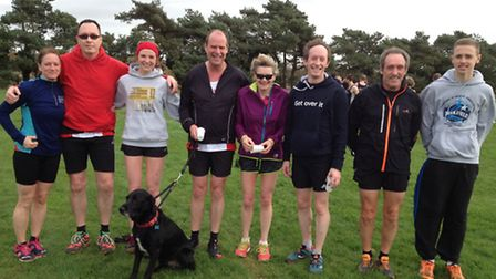 Thet Thetford AC team which competed at the Suffolk Winter Cross Country League meeting at Sutton, f