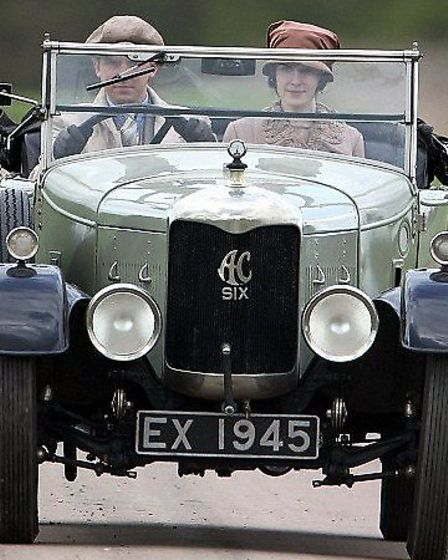 NOSTALGIC DRIVE: this classic car, bought in Great Yarmouth in 1926 and registered in our EX series,