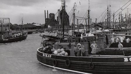 HERE FOR THE HERRING: a Buckie drifter berthed in Yarmouth in October 1961. Picture: MERCURY LIBRARY