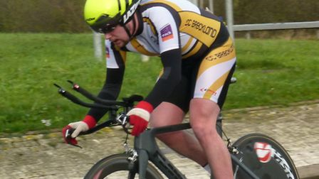 Declan Davis competing in Cycling Club Breckland's New Year's Day 10-mile time trial. Picture: Fergu