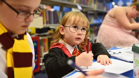 The Harry Potter book night event at Gorleston library.Picture: James Bass