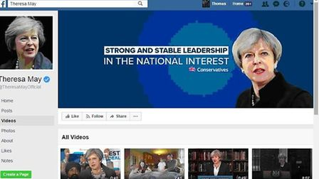 Conservatives posted this Facebook dark advert about 'strong and stable' government at voters in the