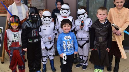 A Star Wars party is held at Brandon Library for local children.