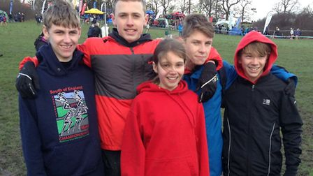 Thetford AC athletes at the South of England Cross Country Championships at Parliament Hill in Londo