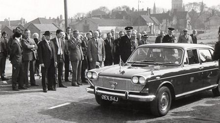CIVIC SEND-OFF: in 1972 the mayor of Great Yarmouth is driven in his official car across the new Bu