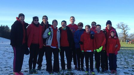 Thetford athletes found themselves in the middle of a winter wonderland on the Haughley Park estate