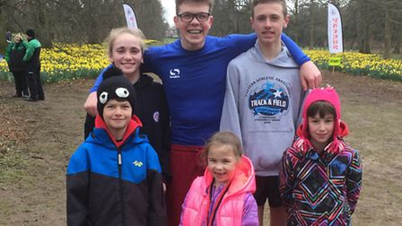 Thetford AC athletes who competed in the final round of the Suffolk Winter Cross Country League with