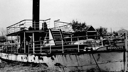 SAD SIGHT: the Resolute, rotting away at Brundall before the Thames Steam and Navigation Trust began